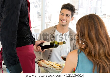 Couple having a meal in a fancy restaurant Stock photo © photography33