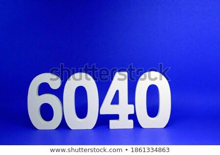 Negyven százalék el címke szöveg űr Stock fotó © marinini