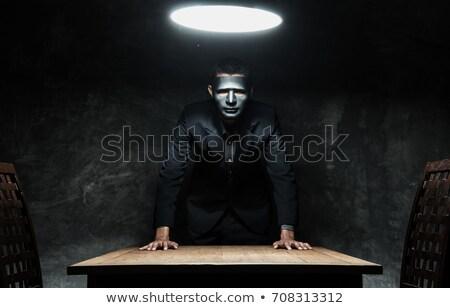 Terrorista homem de negócios pistola indicação negócio morte Foto stock © pedromonteiro