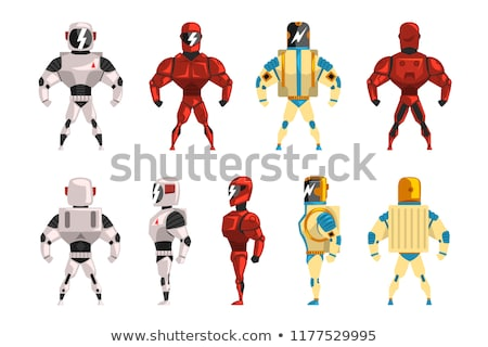 Comic Scifi Droid Superhero Character Stock photo © benchart