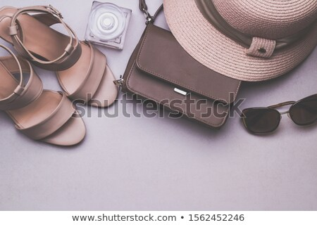 женщину сандалии коричневый цвета белый дизайна Сток-фото © JohnKasawa