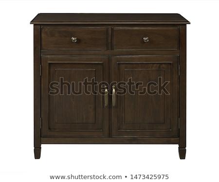 Wooden dresser isolated Stock photo © ozaiachin