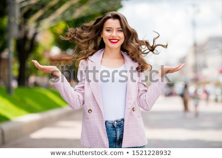 beautiful lady in downtown stock photo © ssuaphoto