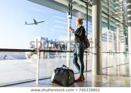 luchthaven · koffers · buiten · reizen · groep · vervoer - stockfoto © lightpoet