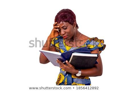 女性実業家 頭痛 白 ビジネス 顔 生活 ストックフォト © wavebreak_media