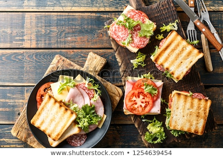 огурца · сэндвич · белый · хлеб · послеполуденный · чай · продовольствие · хлеб - Сток-фото © ozgur