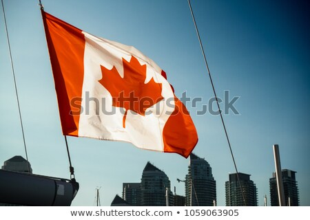 Canadian Flag on Sailboat  Stock photo © Gordo25