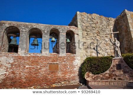 Pai estátua missão san juan igreja ruínas Foto stock © billperry