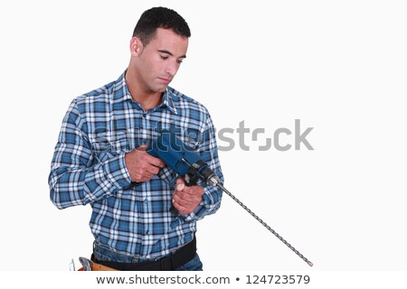 man holding drill with long extension stock photo © photography33