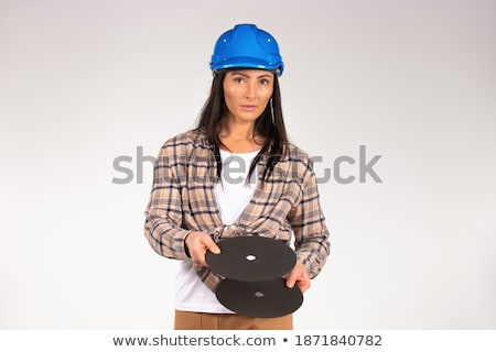 Handywoman with disc grinder Stock photo © photography33