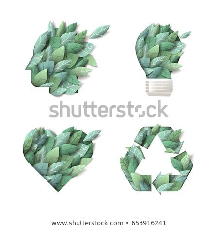 と思います 緑 ベクトル ポスター 女性 世界中 ストックフォト © krabata