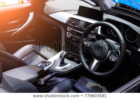 interior · moderna · coche · negro · salpicadero · instrumento - foto stock © lightpoet