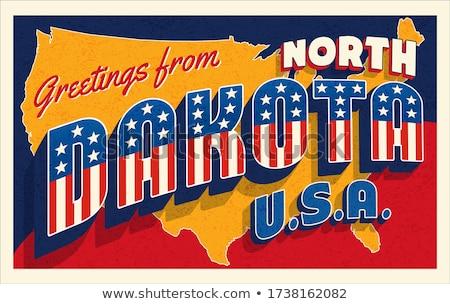 Kuzey Dakota 3D ayarlamak simgeler harita Stok fotoğraf © cteconsulting