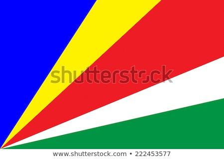 Bandiera Seychelles ombra bianco sfondo nero Foto d'archivio © claudiodivizia