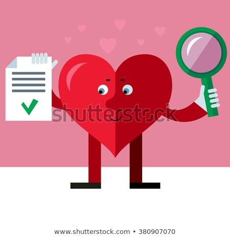 Zoom rózsaszín szív valentin nap naptár Stock fotó © wavebreak_media