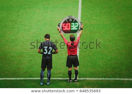football · arbitre · joueurs · assez · jeu - photo stock © jorgenmac