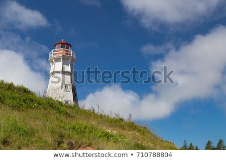 Deniz feneri yeni Kanada hdr dramatik gökyüzü Stok fotoğraf © vlad_podkhlebnik