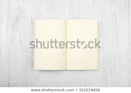 Foto stock: Livro · aberto · convés · cópia · espaço · livro · projeto