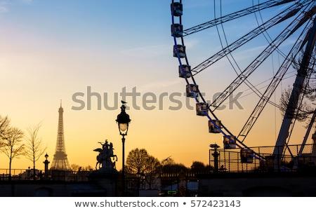 sunset in place de la concorde square paris france stock photo © aladin66
