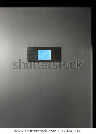 現代 冷蔵庫 表示 コントロールパネル 青 ストックフォト © ABBPhoto