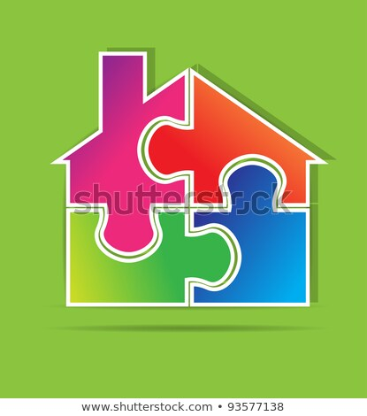 Insurance - Home Icon on Blue Puzzle. Stock photo © tashatuvango
