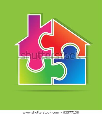 Insurance - Home Icon on Blue Puzzle. Stock photo © tashatuvango