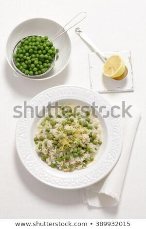 Risotto rijst diner plantaardige maaltijd gezonde Stockfoto © M-studio