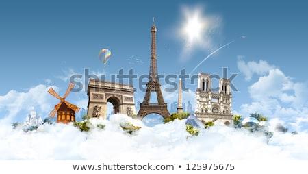 Hemels Parijs toeristen bewonderen rivier Stockfoto © weston_boucher