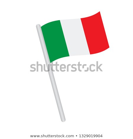 Italy Small Flag on a Map Background. Stock photo © tashatuvango