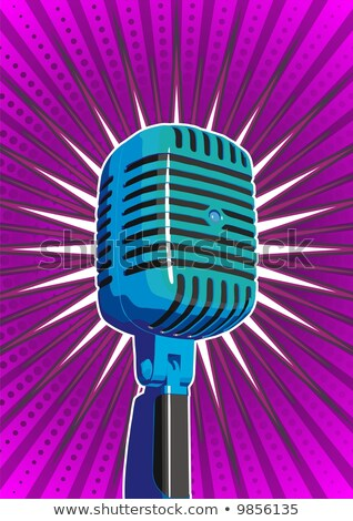 mikrofon · mor · star · soyut · müzik - stok fotoğraf © diabluses