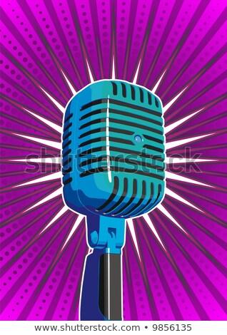 микрофона Purple звездой аннотация музыку Сток-фото © diabluses