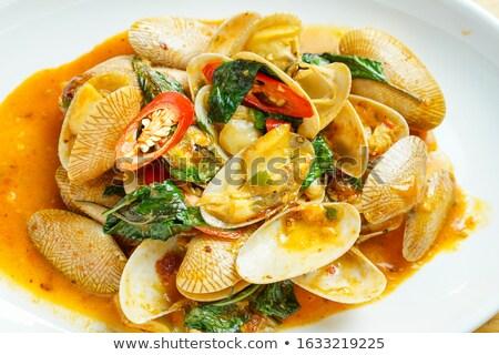 Thai gekruid saus witte jus boot Stockfoto © zhekos