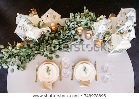 Dois casamento vela tabela igreja fogo Foto stock © shivanetua