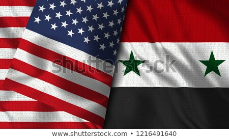 USA Syrië politiek vector ontwerp abstract Stockfoto © saicle