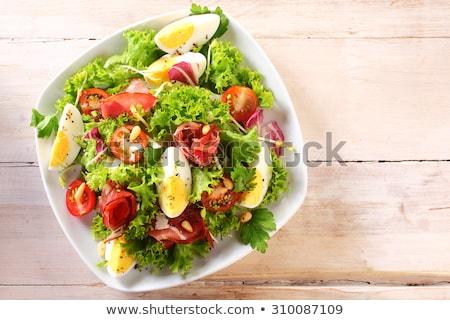 Főtt tojás saláta majonéz mártás étel tojások Stock fotó © darkkong