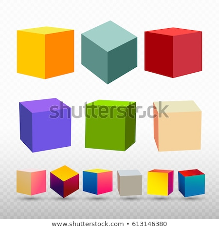 Logo with colorful cubes and shadow Stock photo © shawlinmohd