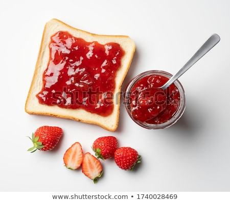 Ekmek çilek reçel tost tereyağı Stok fotoğraf © hermestr2010
