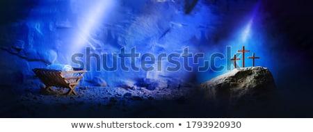 İsa örnek karikatür kar gece komik Stok fotoğraf © adrenalina
