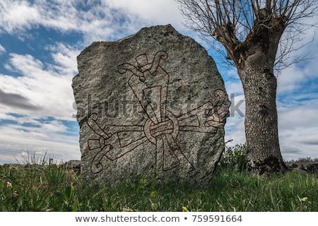 vikings runestone stock photo © olandsfokus