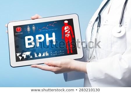 bph on the display of medical tablet stock photo © tashatuvango
