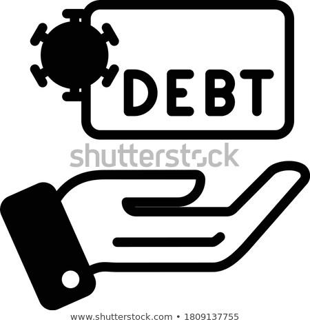 Financiële crisis lege zak munten business meisje Stockfoto © fantazista
