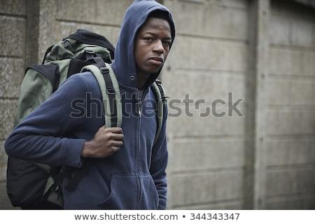evsiz · örnek · adam · kentsel · yoksul · üzüntü - stok fotoğraf © highwaystarz
