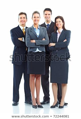 başarılı · iş · ekibi · yalıtılmış · takım · mutlu · iş · adamları - stok fotoğraf © nyul