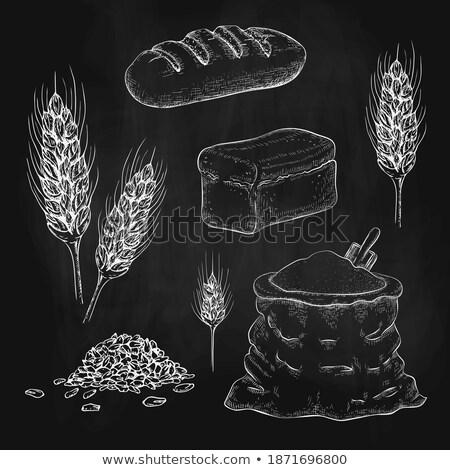 lange · Laib · Ohren · Weizen · dunkel · Essen - stock foto © oleksandro