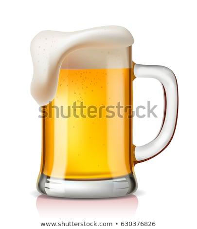 Vector beer glass Stock photo © polygraphus