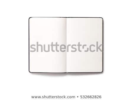 Isolated Open Notebook On White. Stock photo © TarikVision
