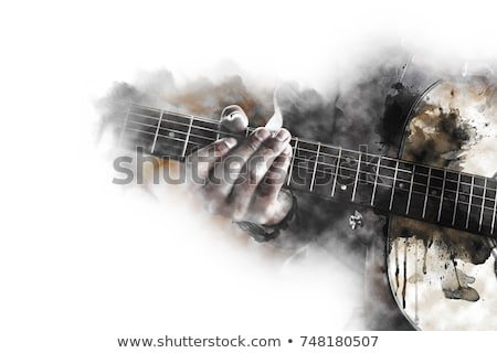 abstract musical background guitar and drums Stock photo © lem