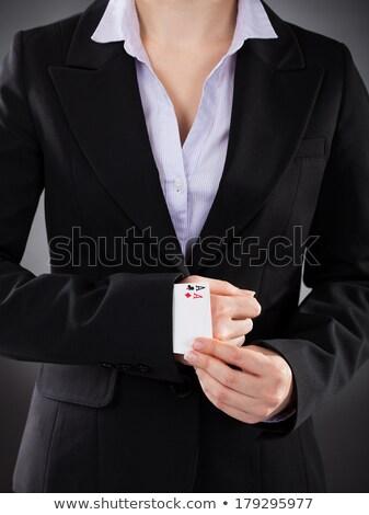 деловая женщина игральных карт скрытый рукав бизнеса работник Сток-фото © AndreyPopov