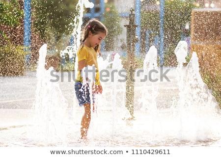Foto stock: Calle · fuente · edad · belleza · verano