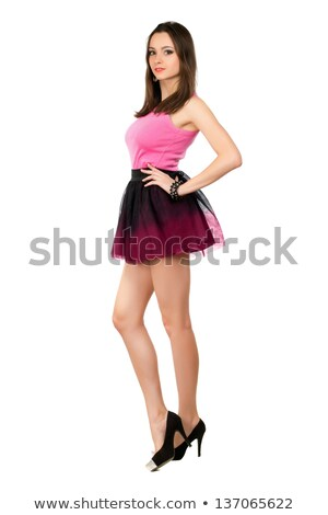 Alluring leggy brunette Stock photo © acidgrey
